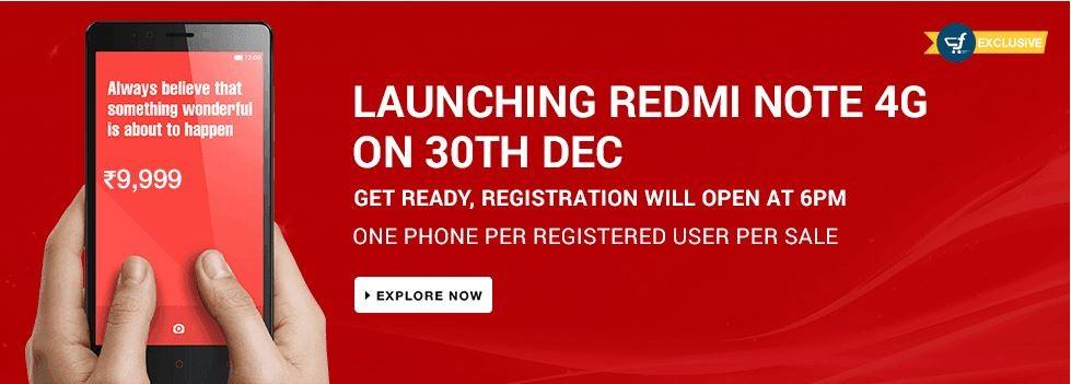 Xiaomi Redmi Note 4G to go on Sale in India Next Week on Flipkart