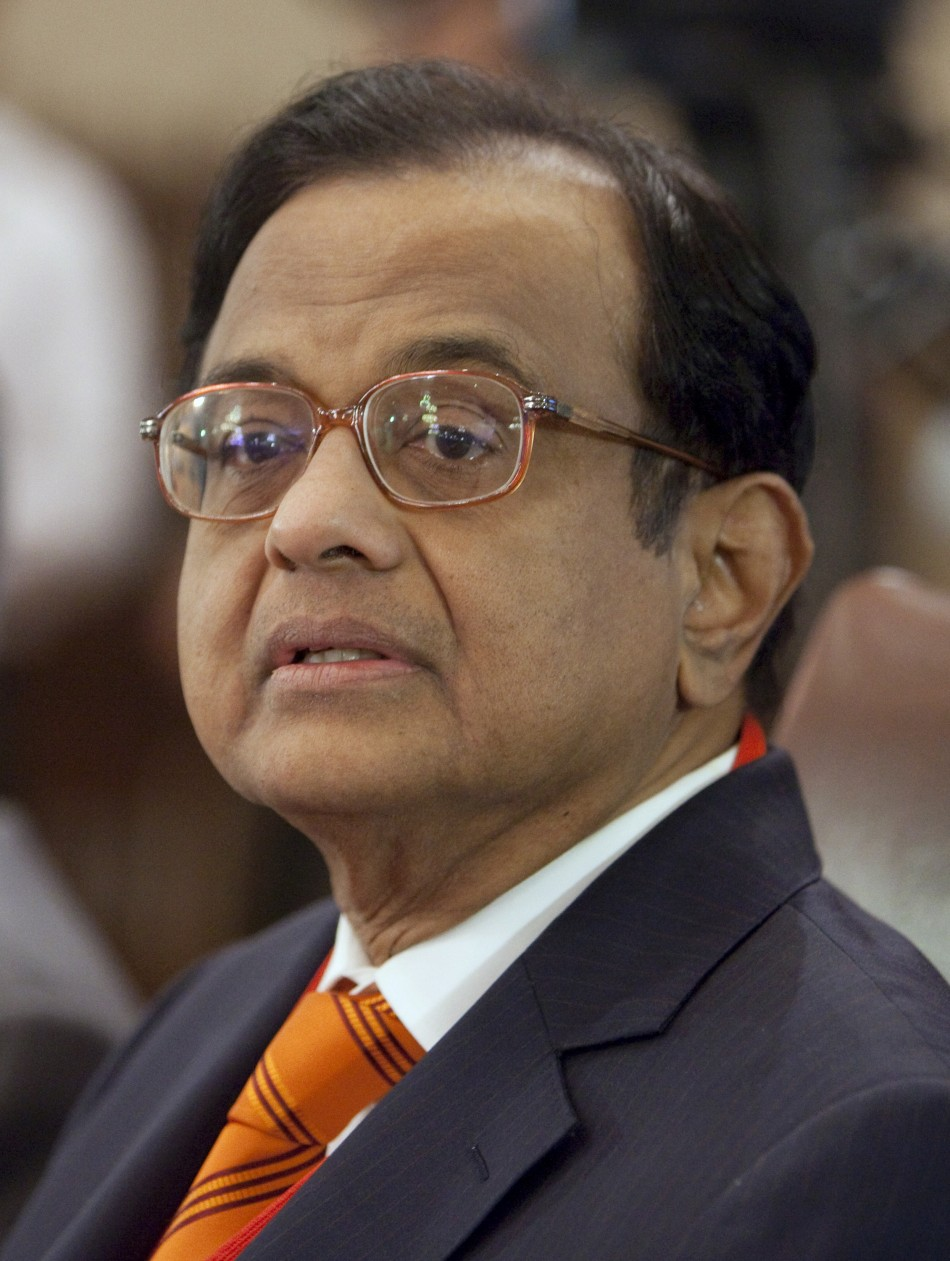 India' Finance Minister P Chidambaram