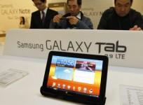Samsung Galaxy Tablet  device on display