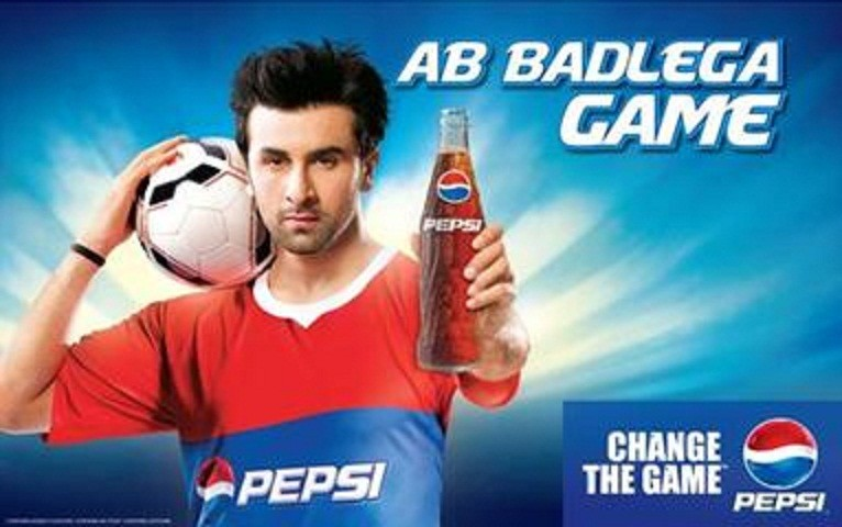Ranbir Kapoor in Pepsi Football commercial