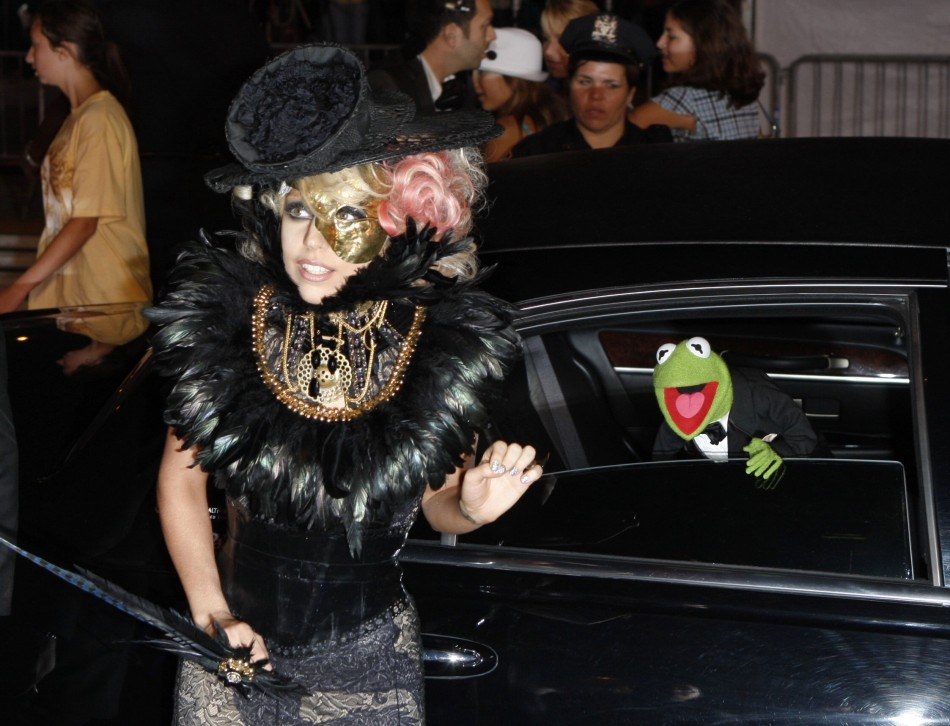 Lady Gaga arrives at the 2009 MTV Video Music Awards in New York