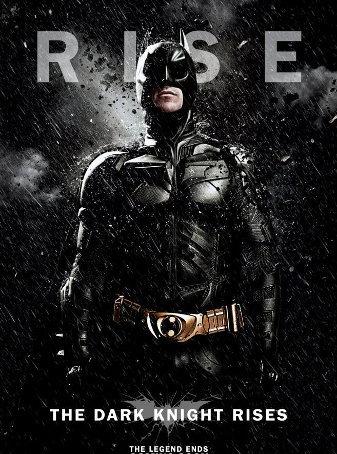 """The Dark Knight Rises"" movie poster Courtesy; Warner Bros. Pictures (India)"