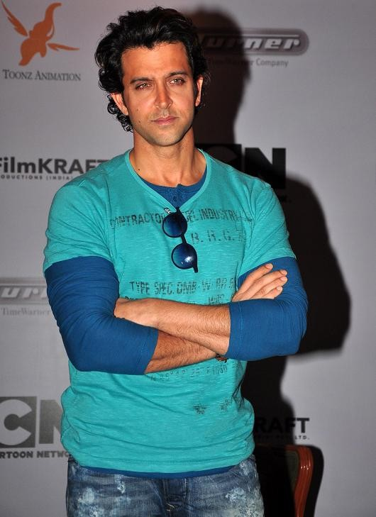 "Hrithik Roshan at the first look launch event of Cartoon Network's ""Kid Krrish"" (Varinder Chawla)"