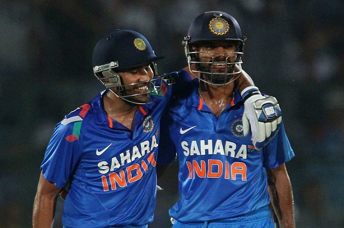 Sharma and Dhawan giving India the perfect start T20 World Cup. Image Courtesy: ibtimes.co.in