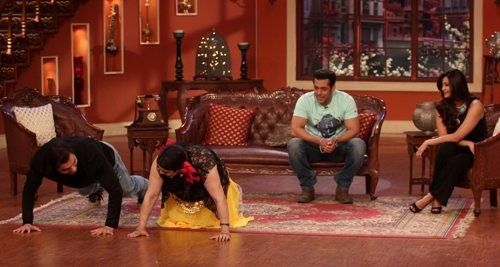 Salman Khan,Daisy Shah and Sohail on'comedy Night With Kapil'