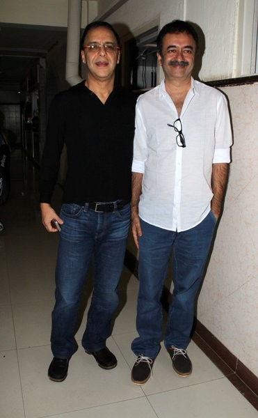 Vidhu Vinod Chopra and Rajkumar Hirani at the launch of the book, 'Sagar Movietone'