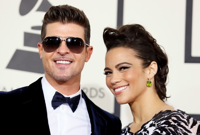 Robin Thicke couple