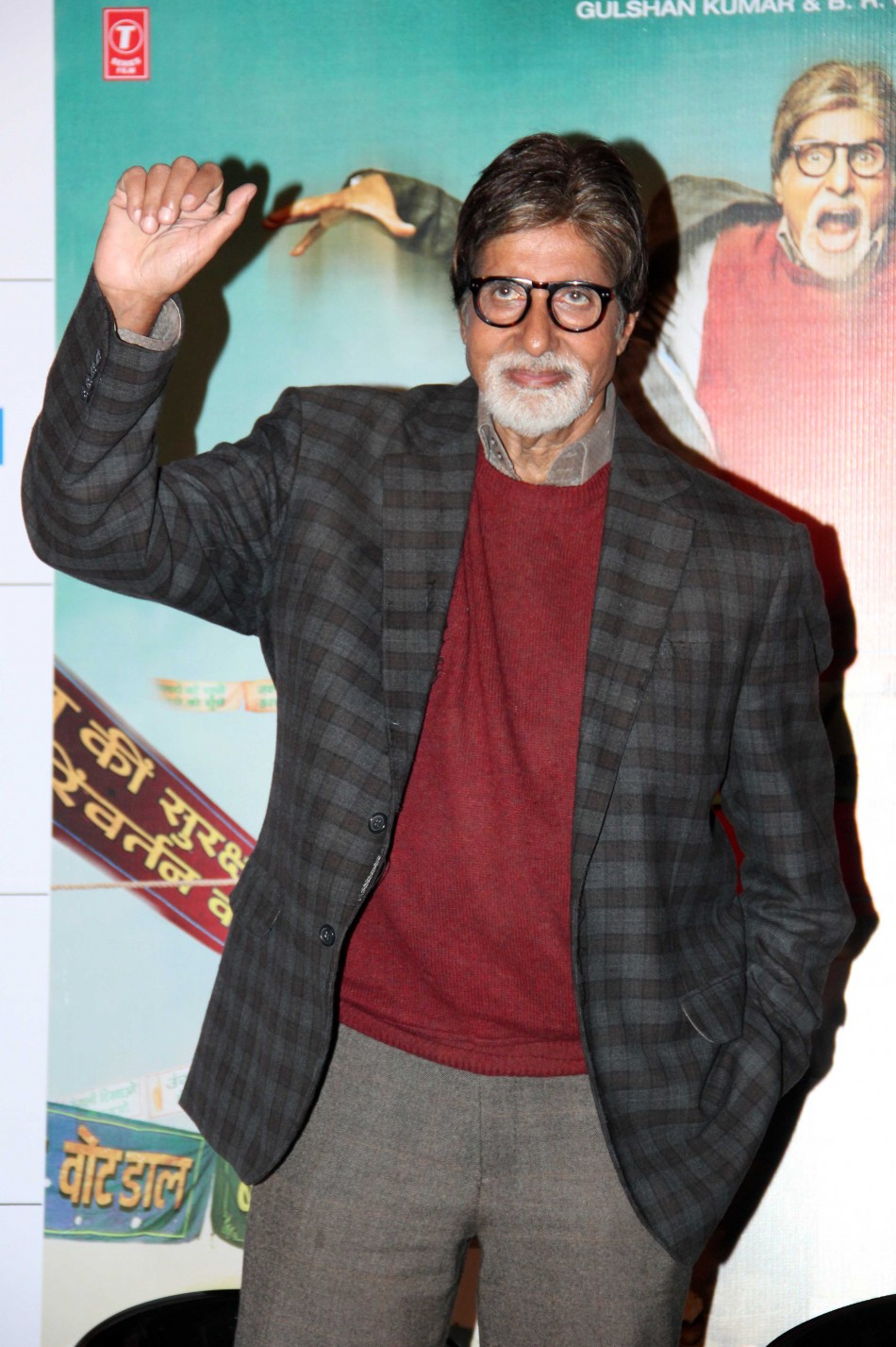 Amitabh Bachchan at the trailer launchof 'Bhoothnath Returns' (Varinder Chawla)