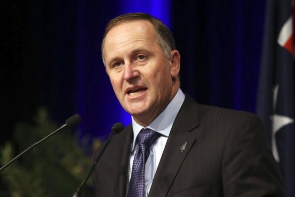 New Zealand's Prime Minister John Key speaks at a luncheon in Sydney February 7, 2014 file photo. REUTERS/Brendon Thorne/Pool