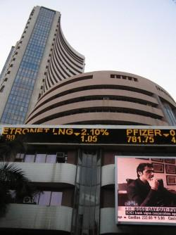 Sensex hits record high above 23,000; surges 650 points