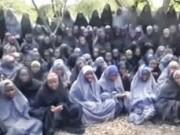The abducted girls have been converted to Islam (YouTube screengrab)
