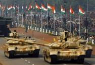 Indian Army T-90 tanks on parade for Republic Day in February 2008. / REUTERS