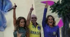 Jennifer Lopez, Pitbull and Claudia Leitte