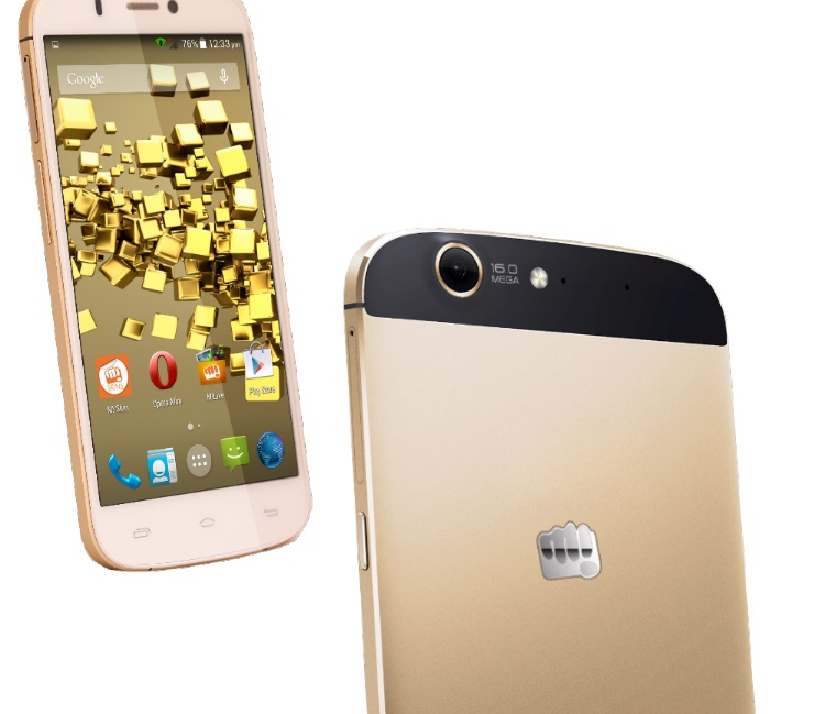 Micromax Canvas Price in India Gold