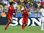 Marouane Fellaini and Dries Mertens