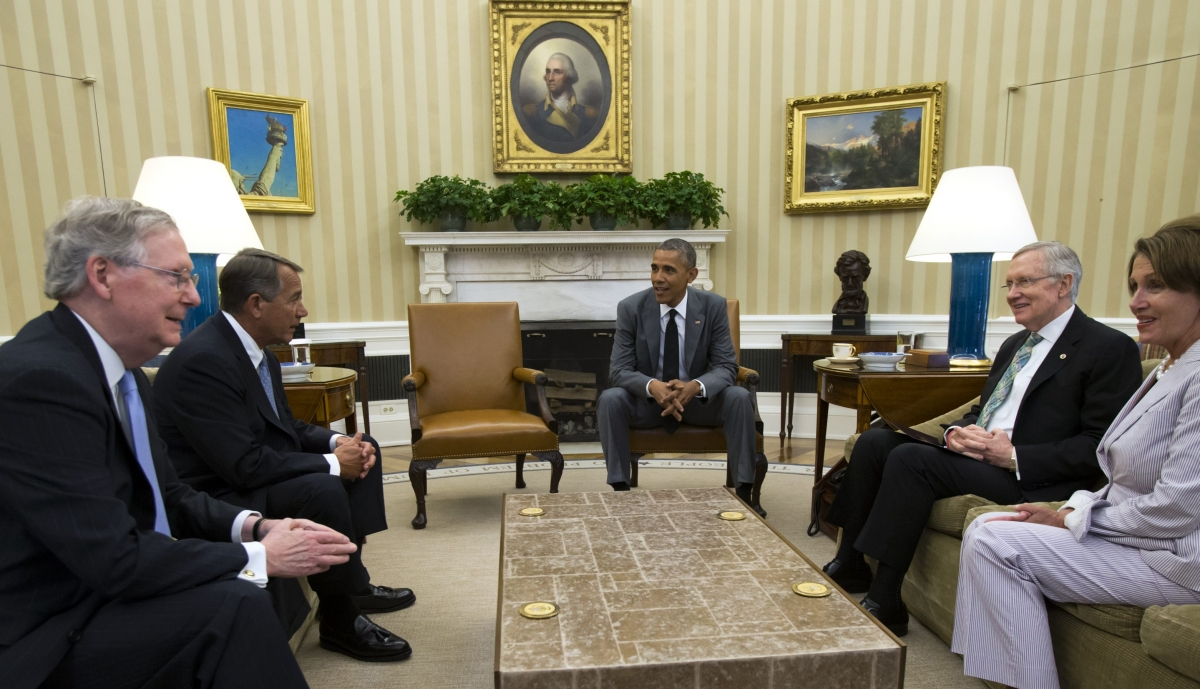 U.S. President Obama meets Congressional leaders to discuss the situation in Iraq at the White House