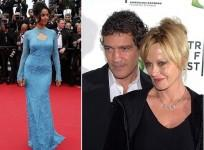 Left: Mallika Sherawat; Right: Antonio Banderas and Melanie Griffith