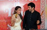 Parineeti Chopra and Aditya Roy Kapur at the trailer launch of 'Daawat-e-Ishq'