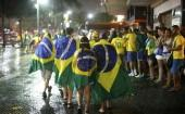Brazil fans crowd supporters