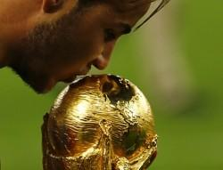 Mario Gotze Germany World Cup trophy