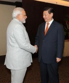 Modi meets Chinese President Xi Jinping