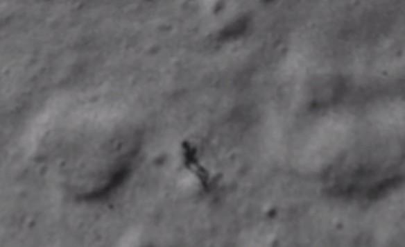 UFO Sighting: Alien-Like Figure Spotted on The Moon by Google Earth