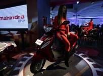 A model sits on a Rodeo RZ scooter at the Mahindra and Mahindra pavilion during the Indian Auto Expo in Greater Noida, on the outskirts of New Delhi February 6, 2014.(Representational Image)
