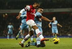 Theo Walcott Winston Reid Arsenal West Ham