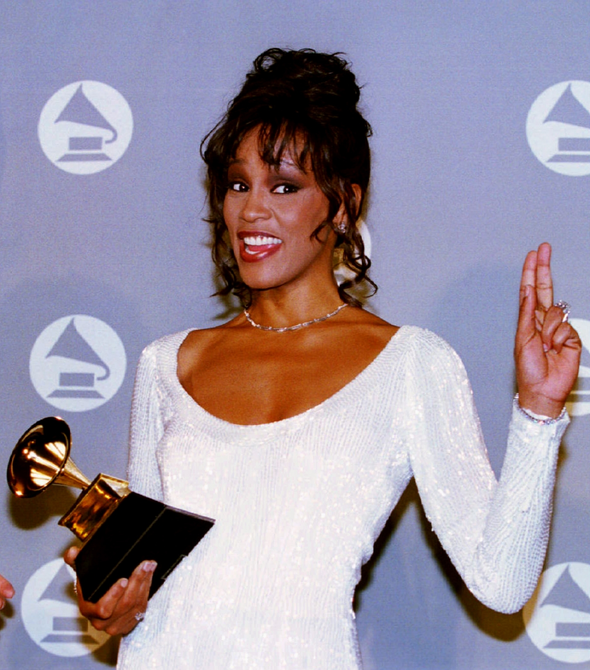 Whitney Houston was found submerged in the bathtub of her room at the    Whitney Houston Pregnant 1993