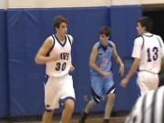 Austin Hatch plays basketball