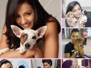 Trisha Krishnan with dogs on Dog Day