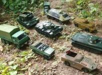 "Russian diplomats mocked NATO with a tweet showing toy tanks as ""evidence"" of Russian troops ""invading Ukraine""."