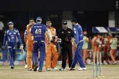 Lahore Lions Umar Akmal Mumbai Indians Hussey Harbhajan