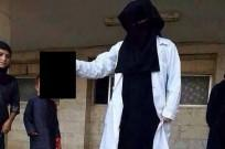 The 21-year old British medical student,who goes by the name of Mujahidah Bint Usama on Twitter after posting a picture of her posing with a severed head said:'Dream job, a terrorist doc.'