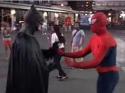 batman spider-man arrested in Times Square