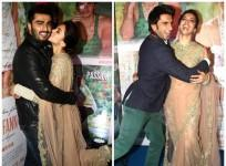 Deepika Padukone, Ranveer Singh, Arjun Kapoor at 'Finding Fanny' success party.