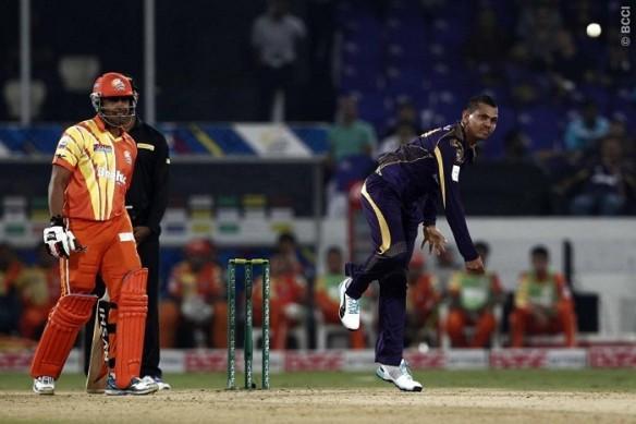 Sunil Narine KKR Lahore Lions