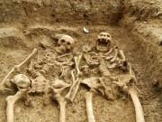 A couple who have been holding hands for 700 years uncovered at the 'lost' chapel of St Morrell in Leicestershire
