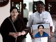 J Jayalalithaa and O Panneerselvam at Tamil Nadu.