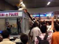 Three black students were attacked by a mob in Delhi Metro station.