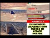 Video footage released by local news channels show ISIS militants can easily cross over from Turkey and then attack Kobane.