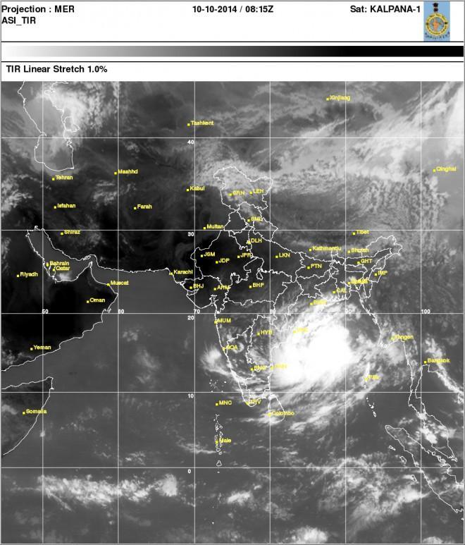 cyclone hudhud watch ferocious cyclonic storm making