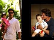 SRK-AbRam and Abhishek-Aaradhya