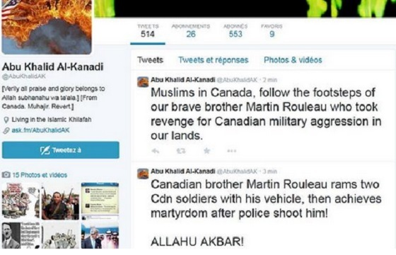 A Canadian national Abu Khalid Al-Kanadi,who is believed to be fighting for ISIS in Syria called on others to wage more attacks in Canada.