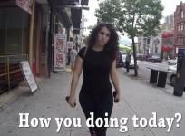 A woman in a viral video showing street harassment in New York, has received death and rape threats.