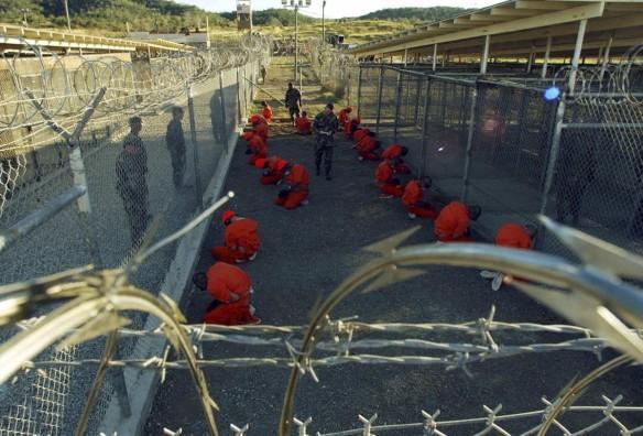 Inmates at Guantanamo Bay