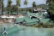 Waves of Tsunami 2004 destroyed countries and killed many people