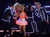 Ariana Grande with Little Big Town at the CMAs