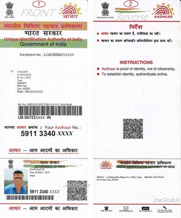 Aadhaar Card.