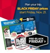 Walmart's pres black-friday sale banner